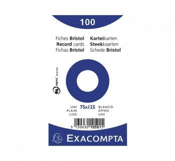 PAQ 100 FICHAS EXACOMPTA 75X125 LISO10501E
