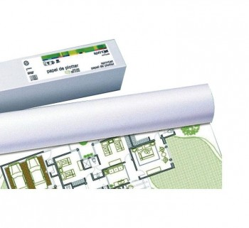 """ROLLO PLOTTER 80G 914MMX50M BLANCO 36\""\""            \"""