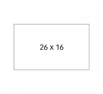 PACK 6 ROLLOS ETIQUETAS 26X16 APLI PERM. BL 100917