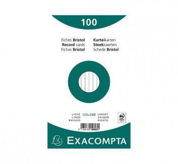 PAQ 100 FICHAS EXACOMPTA 125X200 HZT10803X
