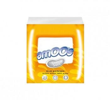 PACK 100 SERVILLETAS AMOOS 2C 22X22CM T622002.2
