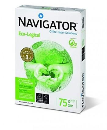 A4 75 GR BLANCO ECO-LOGICAL FSC NAVIGATOR 500 HOJAS