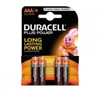 BL. 4 PILAS DURACELL PLUS LR03 (AAA) 0394018457