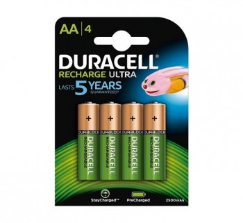 BLISTER 4 PILAS DURACELL REC. STAYCHARGE AA