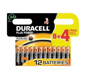 P.12 PILAS DURACELL AAA ALC PLUS 81240282