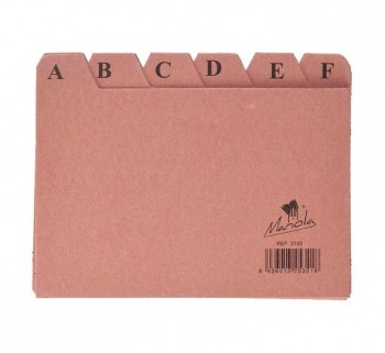 INDICE ALF.24POS.CARTON 100X150 Nº3