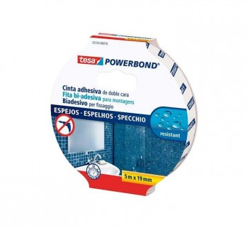 TESA C.DOBLE CARA POWERBOND ESPEJOS ADH.5MX19MM