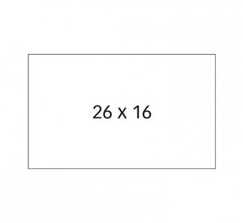 PACK. 6 ROLLOS APLI ETIQ. 26X16 REMOV.RECT 100919