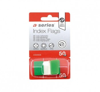 INDICES 50H AUTOADH. A-SERIES 12X44MM VERDE