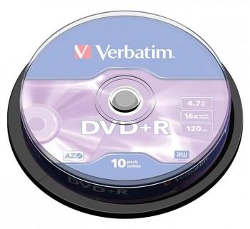 VERBATIM BOBINA 10 DVD+R 16X 4.7GB