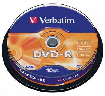 VERBATIM BOBINA 10 DVD-R 16X 4.7GB 43523