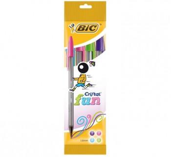 BL. 4 BOLIGRAFO BIC CRISTAL FUN 8957921