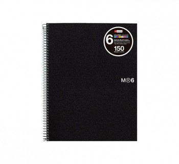 CUAD. MIQUEL RIUS NOTEBOOK 6 A5 150H BASIC NEG