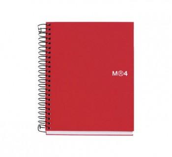 CUAD. MIQUEL RIUS NOTEBOOK 4 A6 140H ROJ BASIC