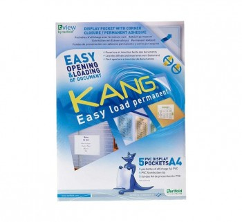 PACK 5 FUNDAS TARIFOLD ADH. A4 KANG EASY LOAD