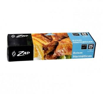 PACK 25 BOLSAS HERMETICAS ZAP 17.8X20.3 320189