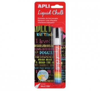 B. LIQUID CHALK APLI 5.5MM P.REDONDA BLANCO 13954