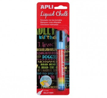 B. LIQUID CHALK APLI 5.5MM P.REDONDA AZUL 13955