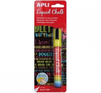 B. LIQUID CHALK APLI 5.5MM P.REDOND AMARILLO 13956