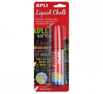 B. LIQUID CHALK APLI 10X15MM P.PARALELA 13963 ROJO