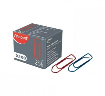 C.100U CLIPS COLORES MAPED 25MM 32102