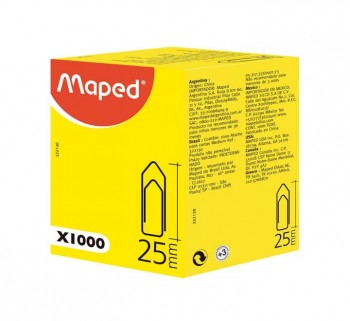 C.1000U CLIPS MAPED 25MM 322130