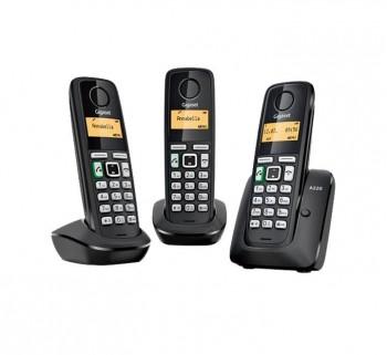 TELEFONOS INALAMBRICOS GIGASET A220 TRIO NEGRO