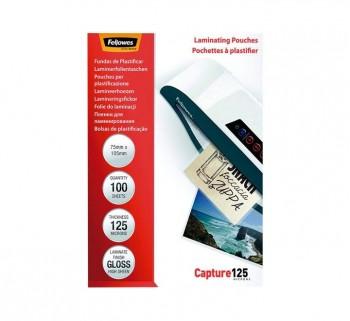 P.100 FUND.PLASTIF.FELLOWES 125MIC 75X105 5306901