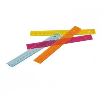 REGLAS FAIBO 16CM PVC TRANS.FLUOR 816-19