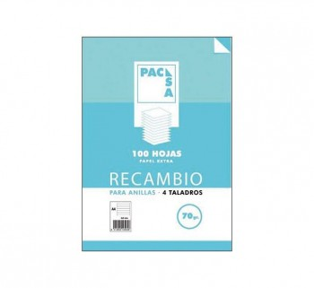 REC.100H A4 HORIZONTAL PACSA MRG 70G 21212