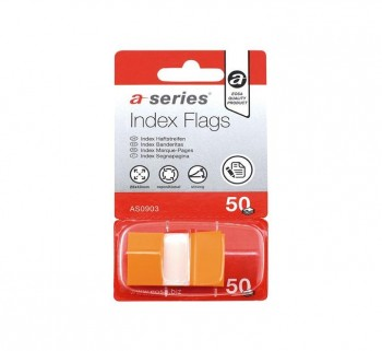 INDICES 50H AUTOADH. A-SERIES 12X44MM NARANJA