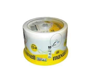 BOBINA 50UN CD-R MAXELL 700MB 52X PRINTABLE MXP50C