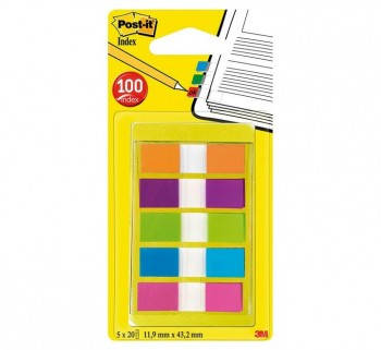 """DISPENS 20 INDEX POST-IT 1 2\""\"" 5COLOR STDO 683-5CB \"""