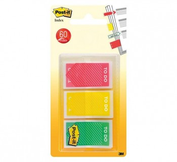 DISPENS 20 INDEX POST-IT FLECHA 3COLOR STDO