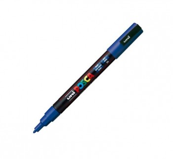 MARCADOR UNI-BALL POSCA PC3M 0.9-1.3MM AZUL