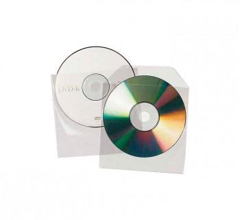 PACK 100 SOBRES PLASTICO CDS DVD TRANSP. 9831201