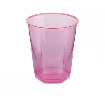 BOLSA 10 VASOS NUPIK GLASS 250CC FUCSIA