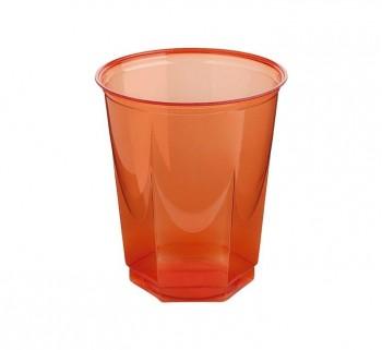 BOLSA 10 VASOS NUPIK GLASS 250CC ROJO