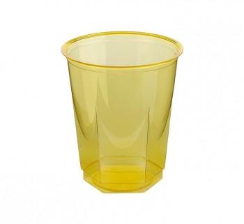 BOLSA 10 VASOS NUPIK GLASS 250CC AMARILLO