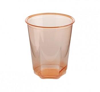 BOLSA 10 VASOS NUPIK GLASS 250CC NARANJA