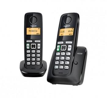 TELEFONO INALAMBRICO GIGASET SI-A220DUO NEGRO