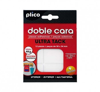 BL. 12U CINTA PLICO DOBLE CARA ULTRA TACK 30X34MM