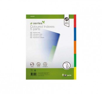 SEPARAD. A-SERIES 1-5 PP A4 COLORES AS0958