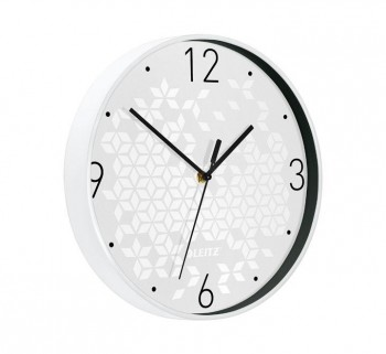 RELOJ PARED LEITZ WOW 29CM BLANCO