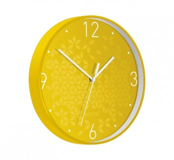 RELOJ PARED LEITZ WOW 29CM AMARILLO