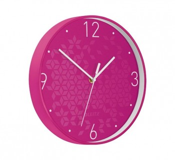 RELOJ PARED LEITZ WOW 29CM FUCSIA