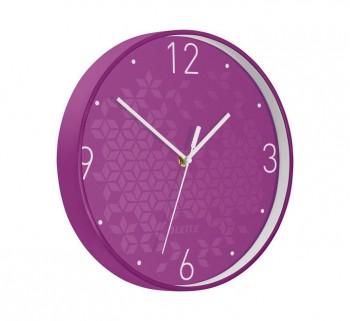 RELOJ PARED LEITZ WOW 29CM VIOLETA