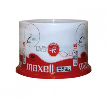 BOBINA 50UN DVD-R MAXELL 4,7GB 16X IMPRIMIBLE