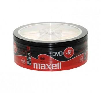 BOBINA 25UN DVD-R MAXELL 4,7GB 16X