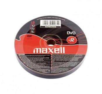 BOBINA 10UN DVD-R MAXELL 4,7GB 16X